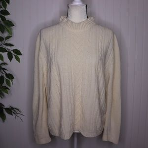 Alfred Dunner Chenille Chunky Knit Sweater